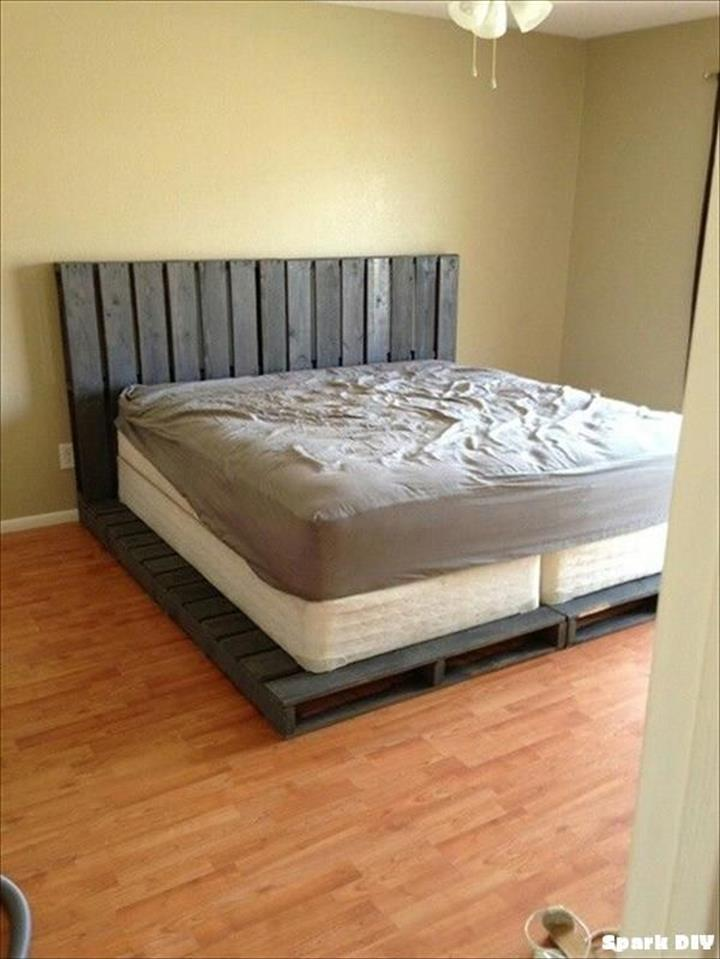 40 Diy Ideas Easy To Install Pallet Platform Beds Pallets Platform