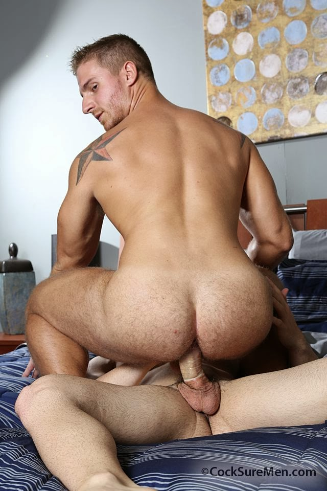 Beefy Hairy Ass of Logan Vaughn gets a big dick