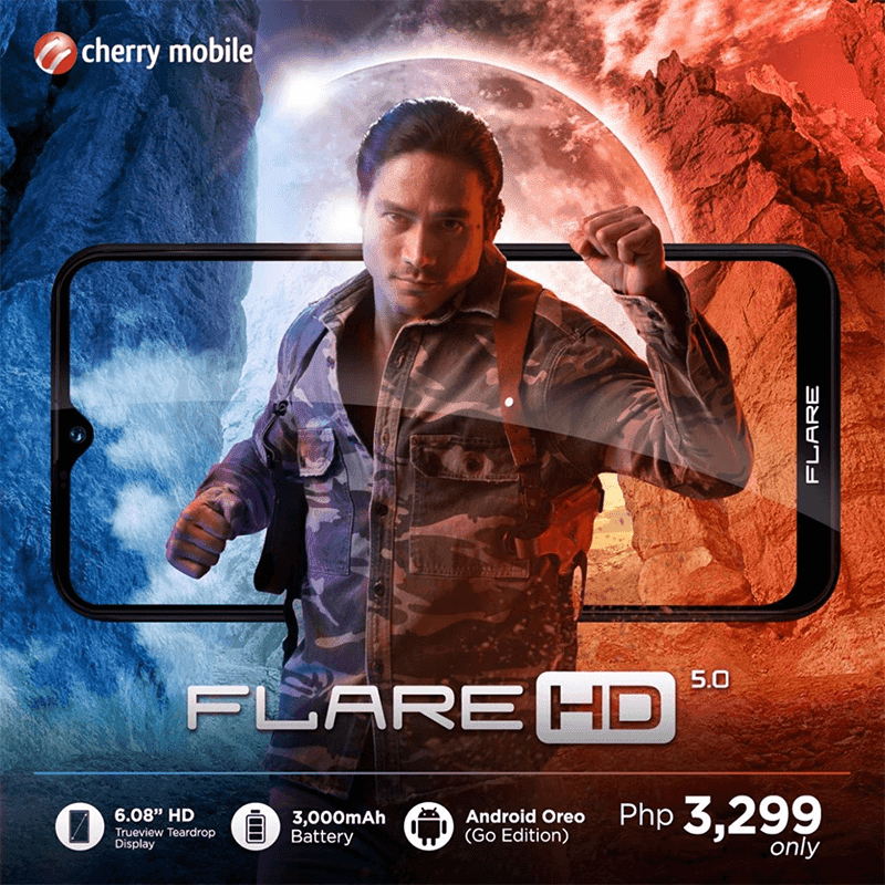 Cherry Mobile announces Flare HD 5.0 with 6.08-inch HD+ teardrop screen