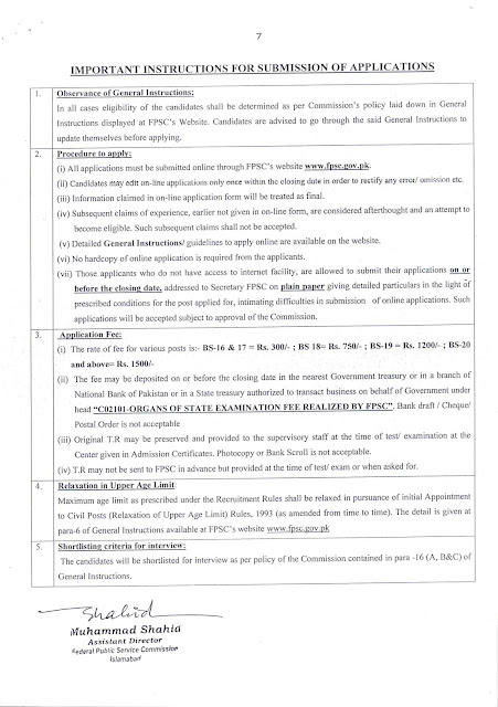 FPSC Jobs December 2019 Federal Public Service Commission