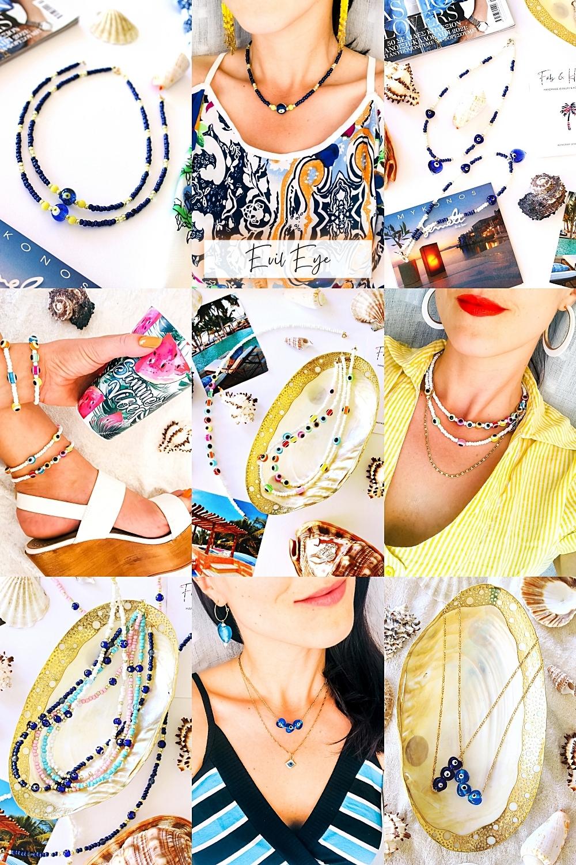 FAB & HAPPY evil eye handmade beaded jewelry, evil eye protection jewelry, nakit protiv uroka