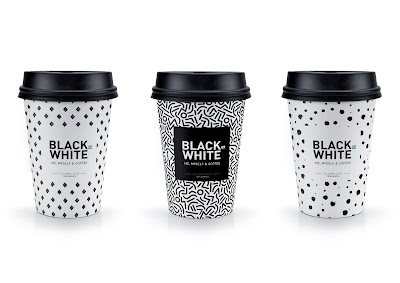 Black Or White Coffee Concept On Packaging Of The World