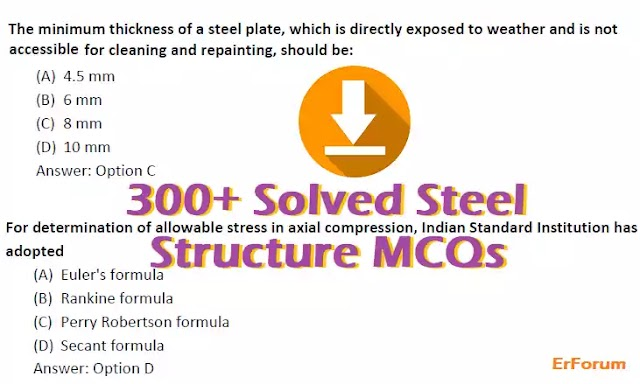 300+ Design of Steel Structures MCQ