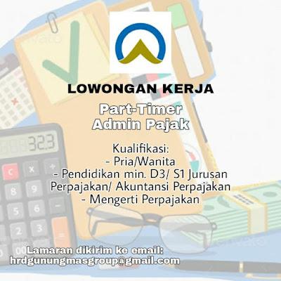 Loker Kupang Gunungmas Sebagai Part Time Admin Pajak