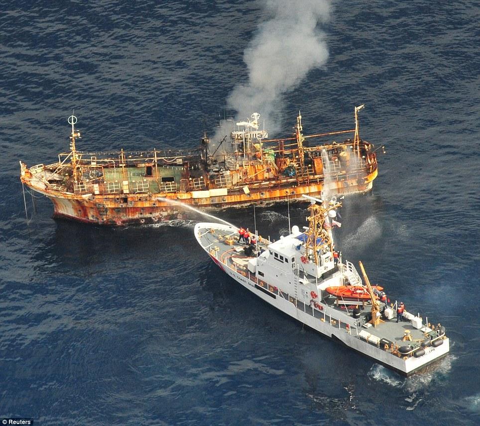 Kapal Hantu, Sisa Tsunami Jepang 2011, Dihancurkan