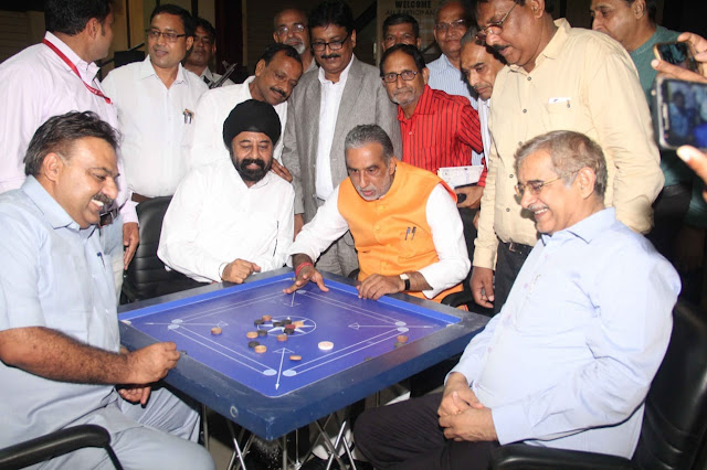 Union minister for state Krishna Pal Gurjar inaugurated the District Level Carrom Competition