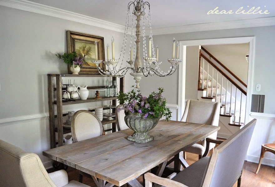 Dear Lillie: Our Updated Dining Room With A New Farmhouse Table And Rolling  Shelves