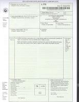 dolaşım sertifikası