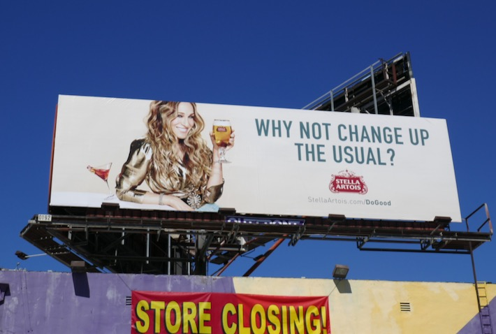 Carrie Bradshaw Stella Artois billboard