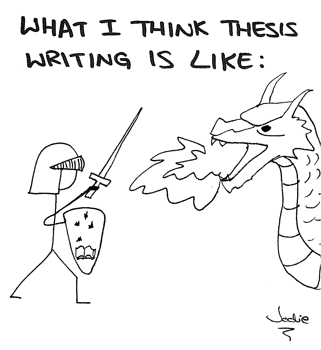 Linguistics and all that jazz: Thesis writing doodles