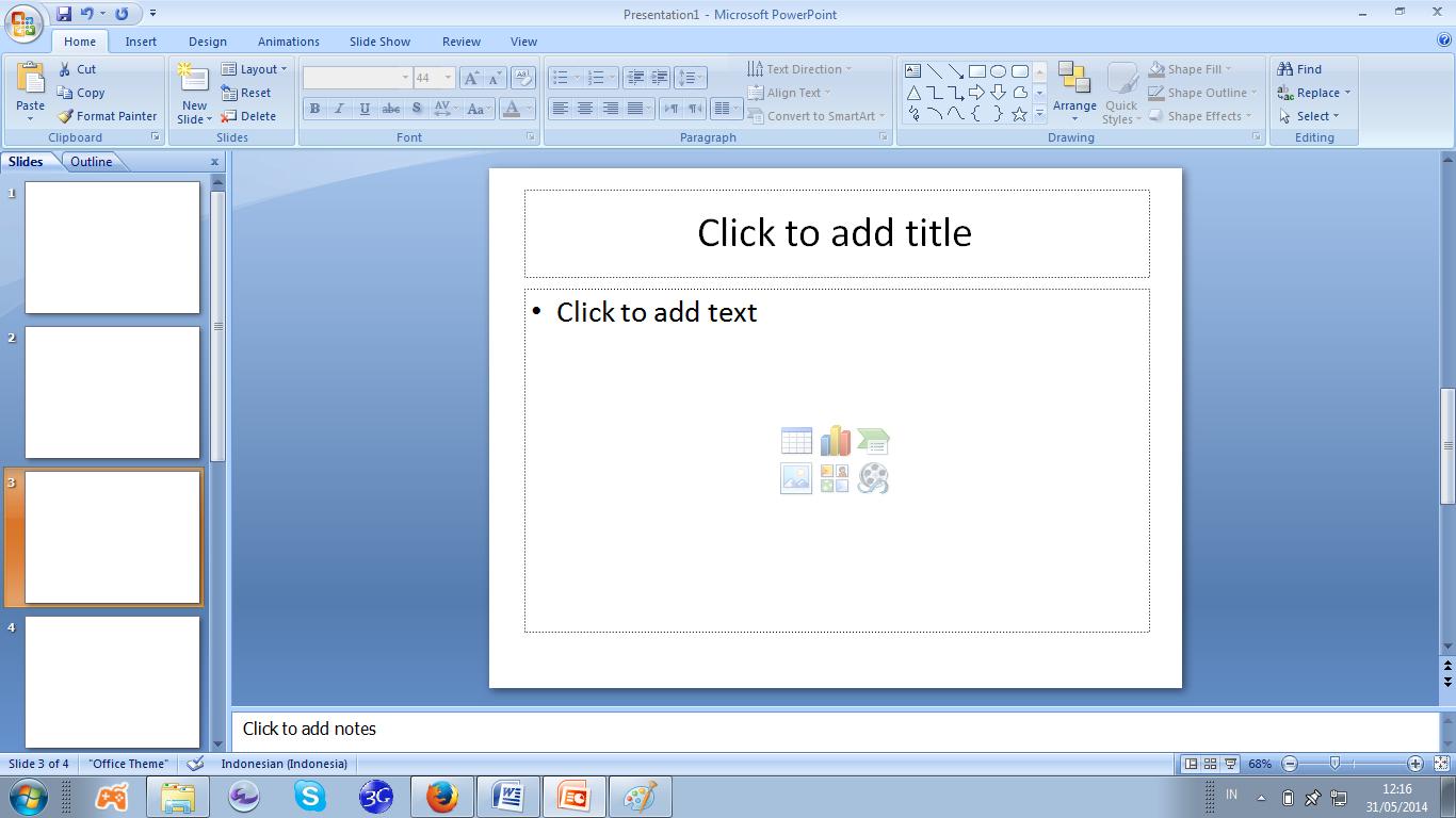 Inayah Membuat Media Presentasi Bahan Ajar Mengunakan Powerpoint