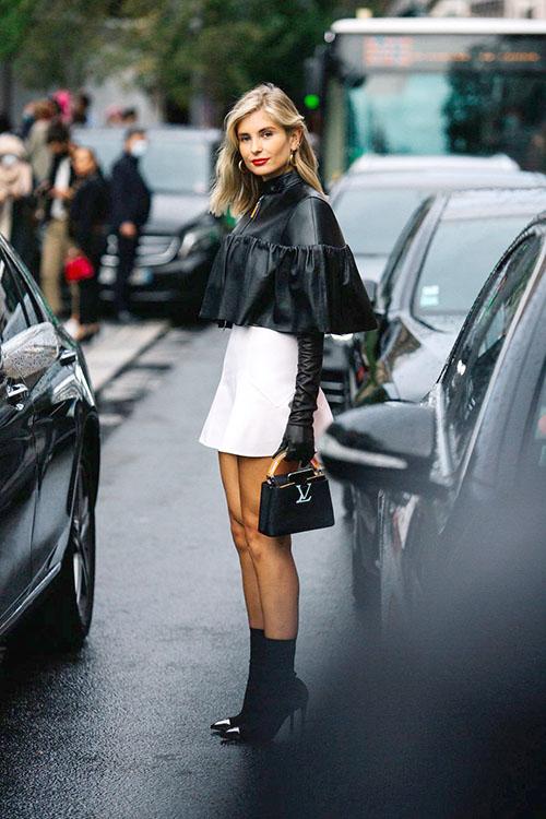 Wearing Louis Vuitton