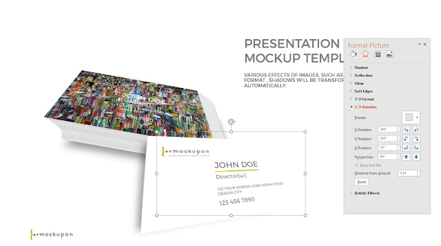 Editable Business card Powerpoint Mockup Templates