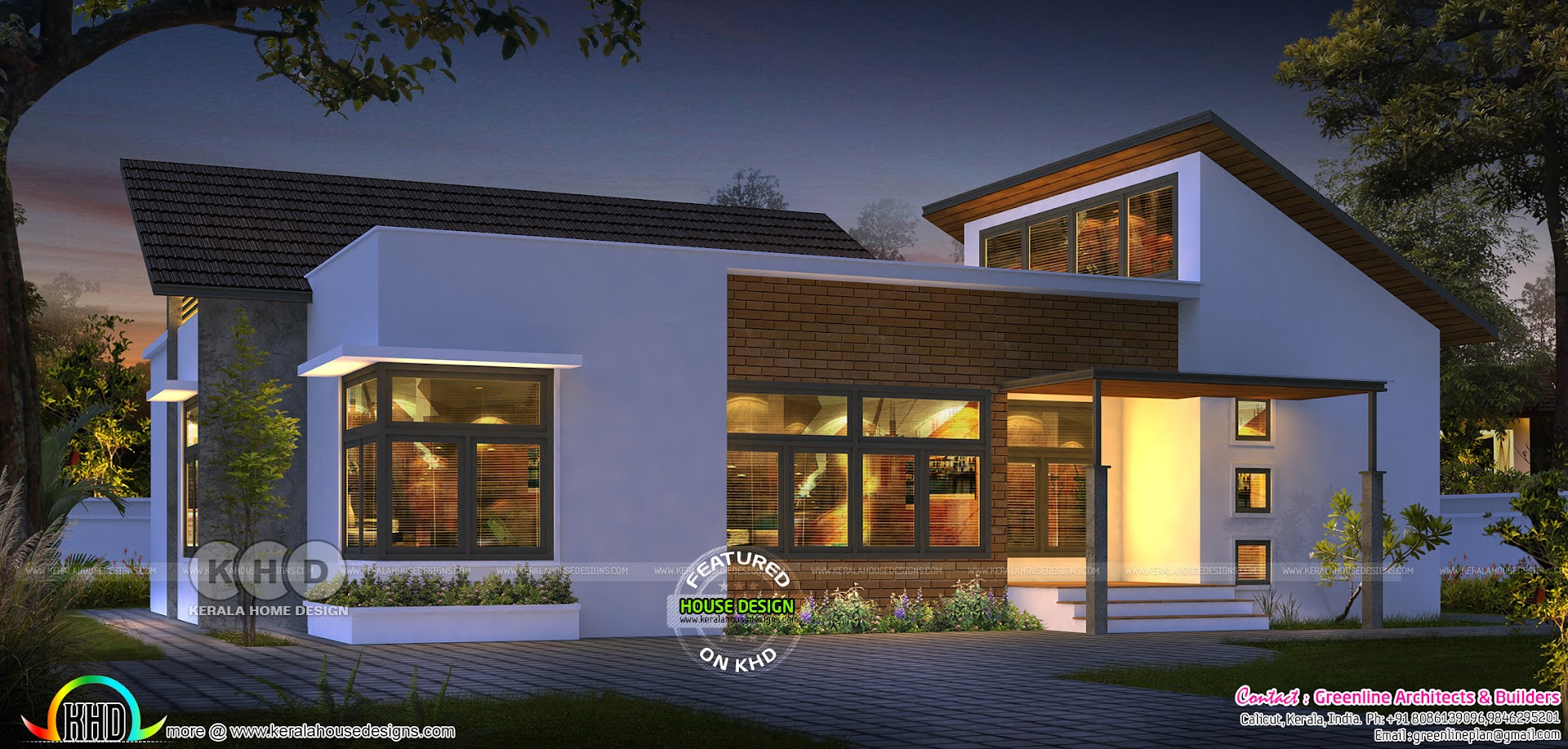 Ultra modern Single floor house design ₹15 Lakhs - Kerala ...
