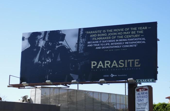 Parasite movie FYC billboard