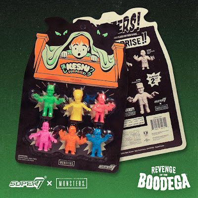 "San Diego Comic-Con 2019 Exclusive ""Don't Look Under Your Bed"" Universal Monsters Keshi Set by Super7"