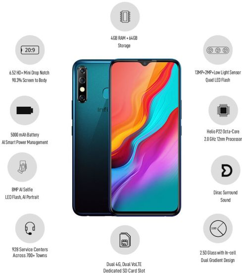 هاتف إنفنيكس هوت  8 المغرب / INFINIX HOT8 32GB X650D خصائص ومميزات