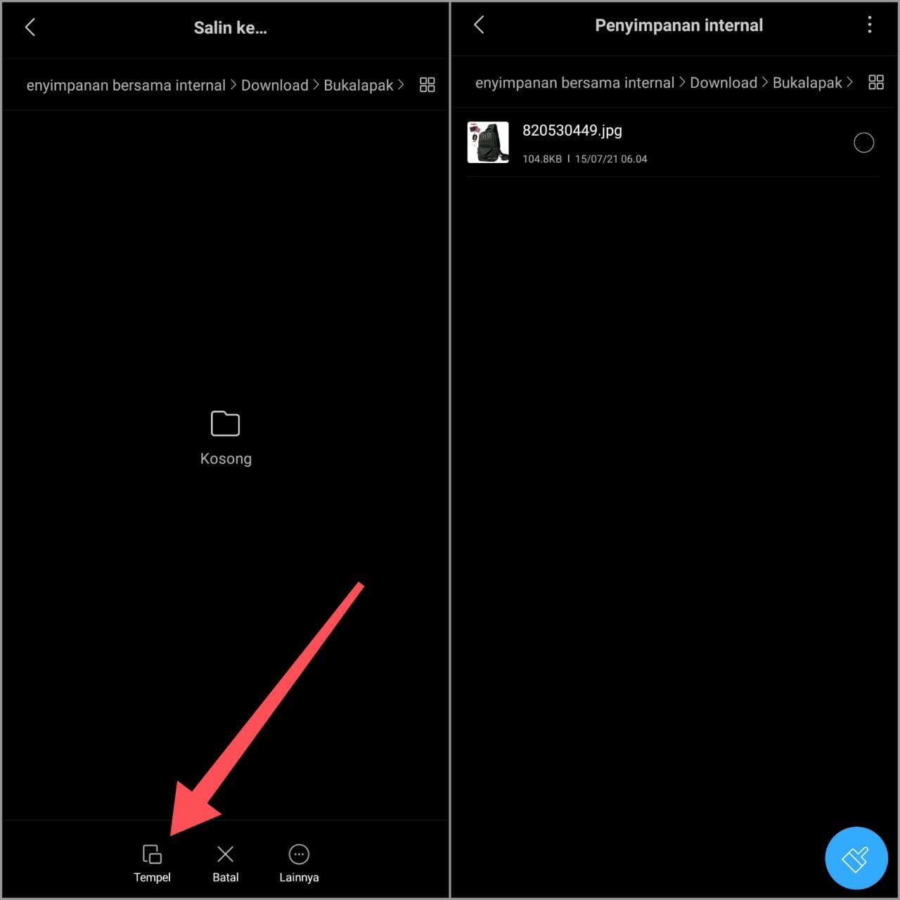 Cara Menyimpan Gambar Bukalapak via Aplikasi di Hp
