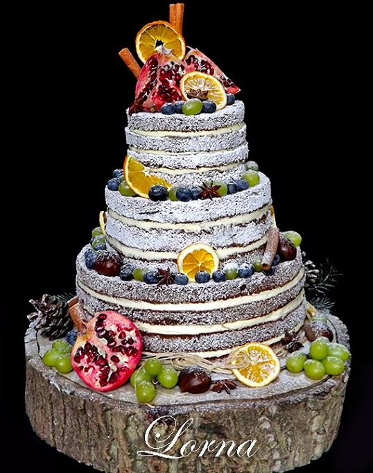 3D торт лесной тематики из сахарной мастики (14)