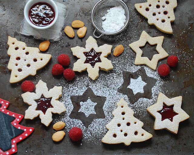 Galletas linzer de Navidad