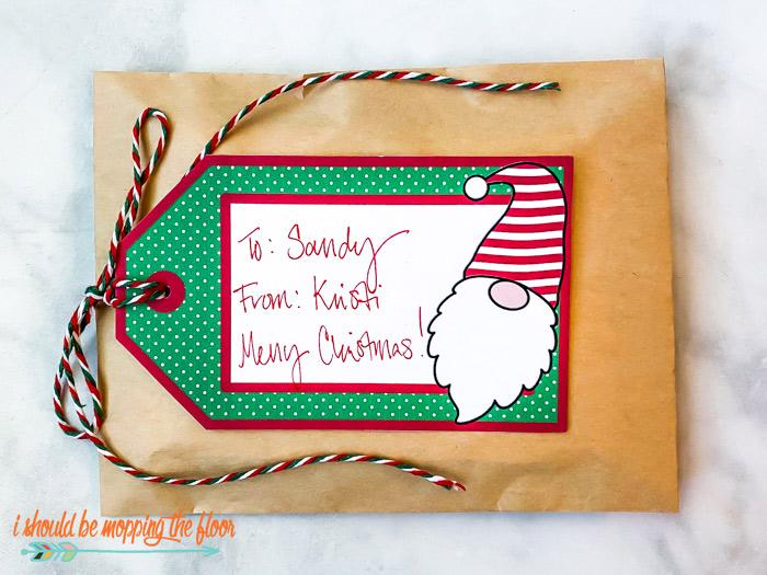 Free Printable Christmas Gnomes Gift Tags