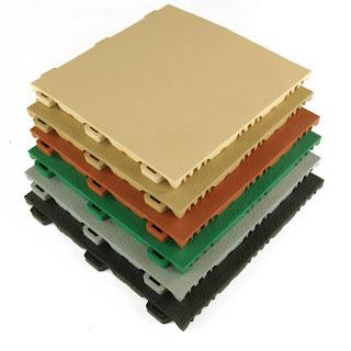 Greatmats Staylock Orange Peel texture plastic tiles