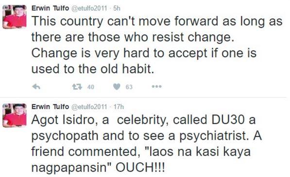 Erwin Tulfo Reacts To  Agot Isidro: 'Laos Na Kasi' READ MORE HERE!