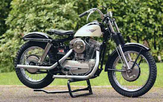 sportster xlch racing 1958 black and white