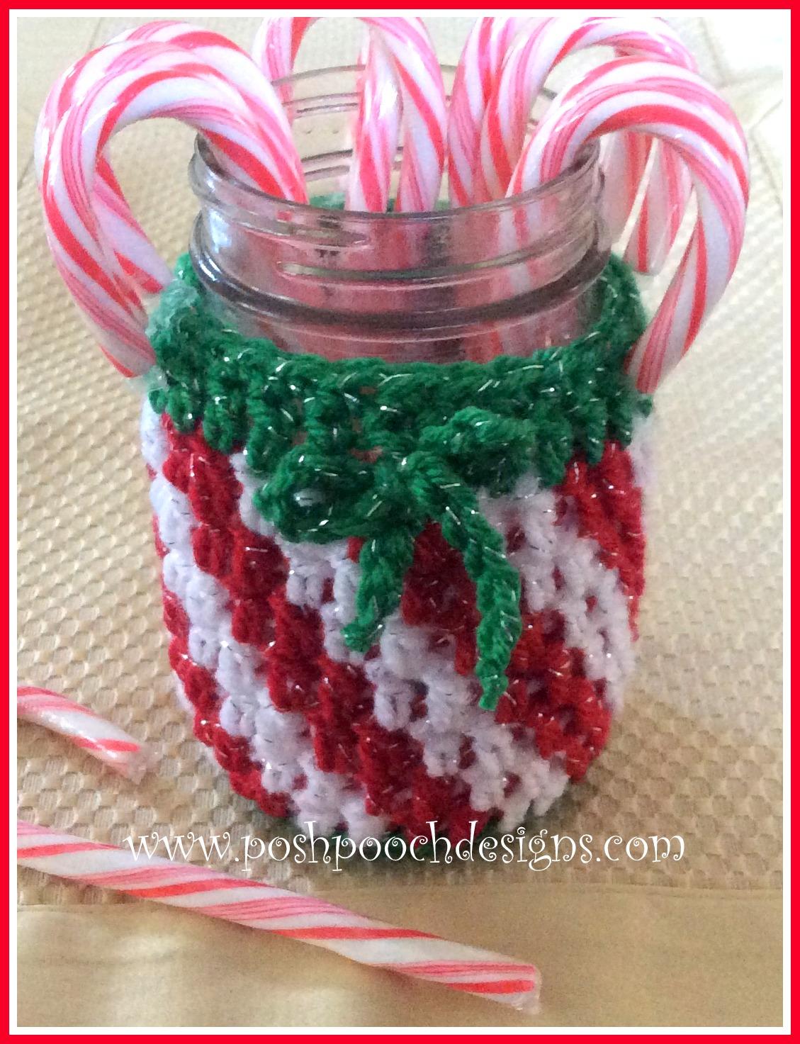 Posh Pooch Designs Dog Clothes Candy Cane Jar Cozie