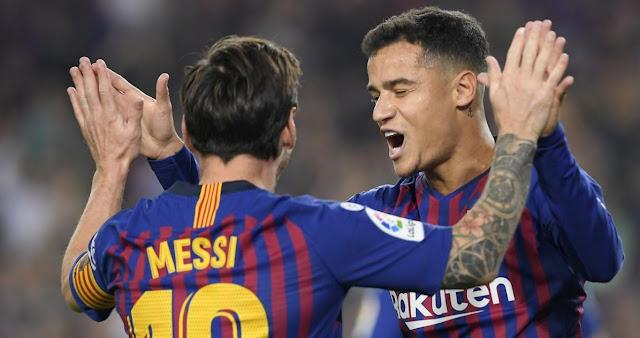 Beri Penalti Pada Coutinho, Lionel Messi Perlihatkan Kedewasaan