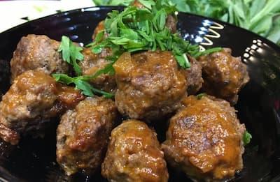 كرات اللحم أفضل وجبات الكيتو دايت