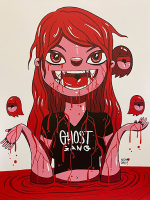 Bloody Vampiress Screen Print by Nicky Davis