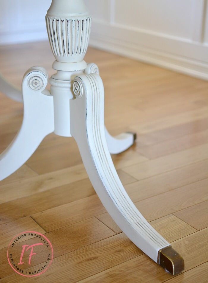 Duncan Phyfe Dining Table Base Painted White