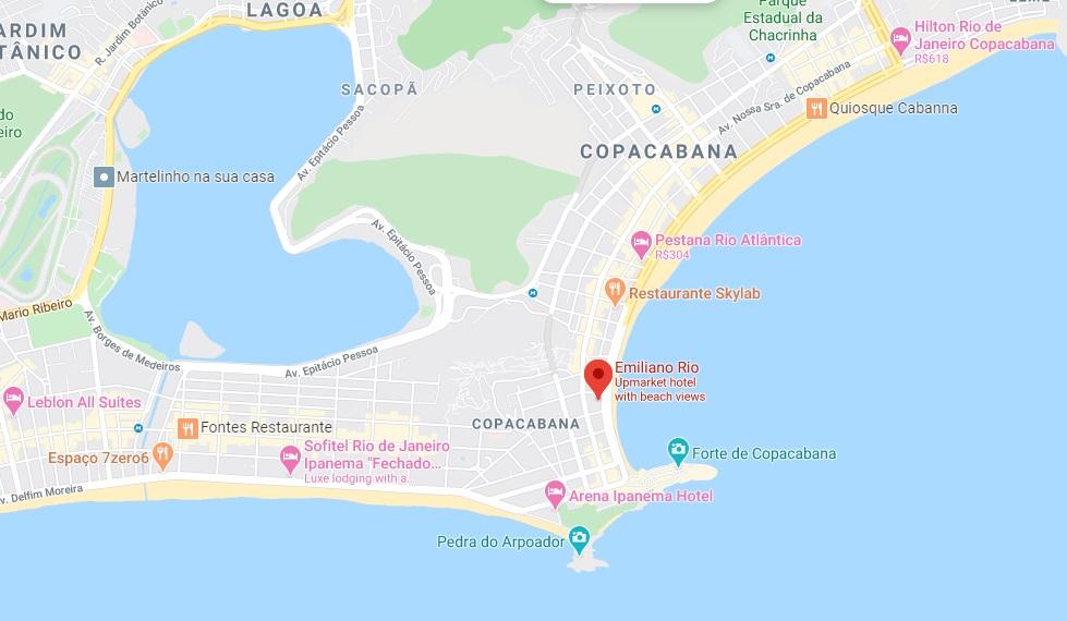 Hotel Emiliano Map - Rio de Janeiro
