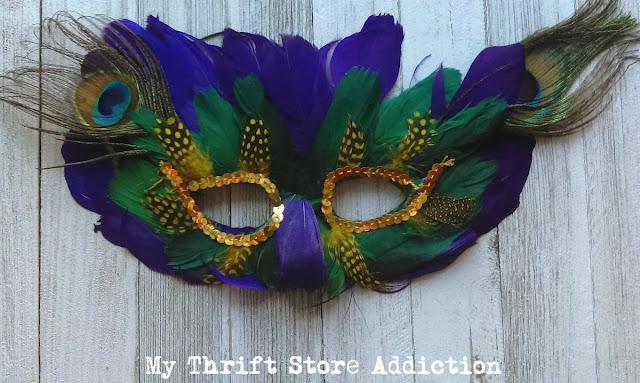 vintage Mardi Gras mask