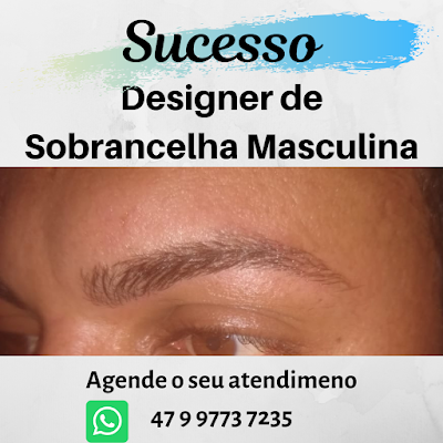 Designer de sobrancelha masculina Itapema