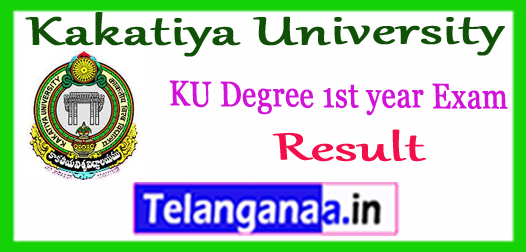 Kakatiya University KU Degree 1st year Supply Results  2018 Download