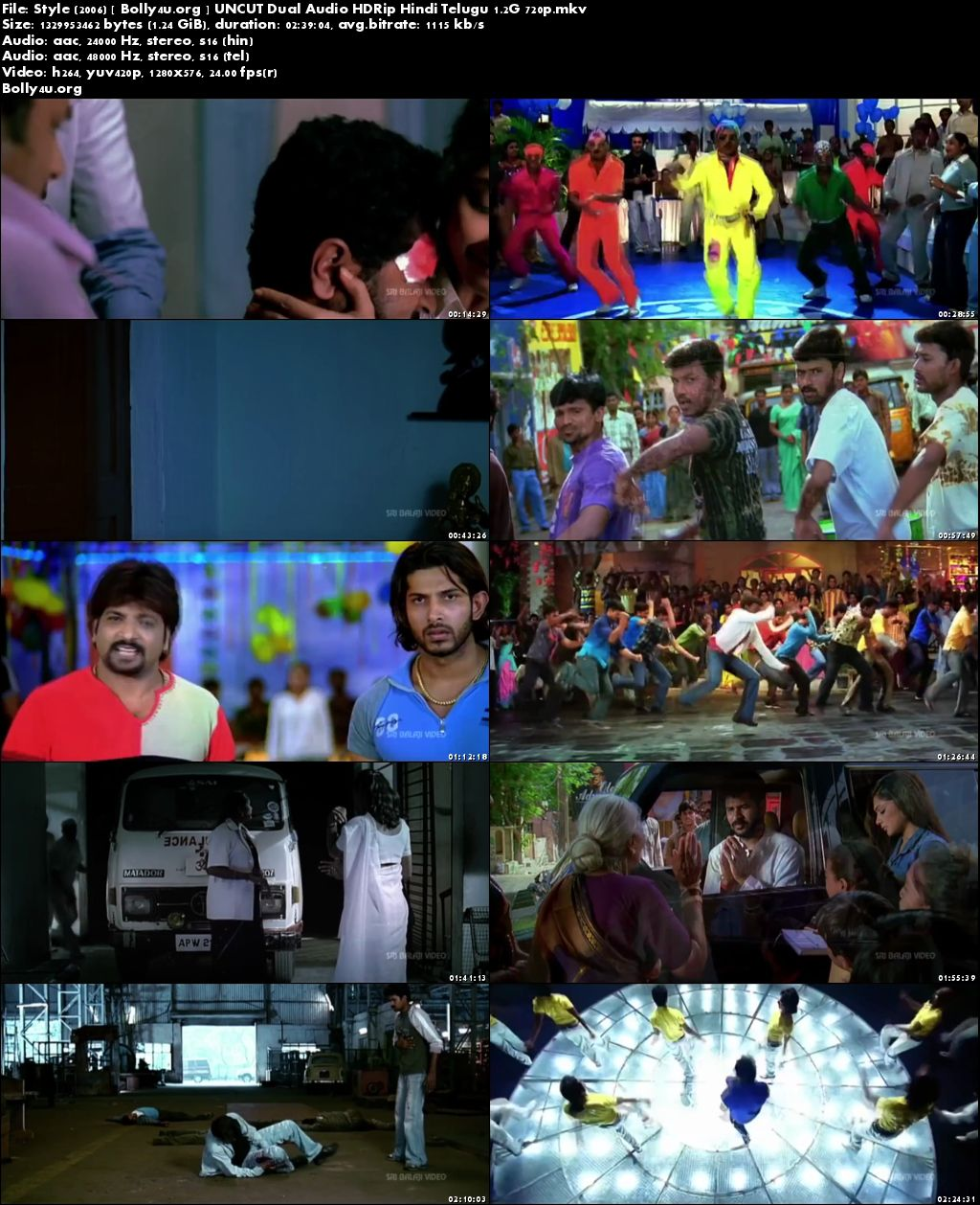 Style 2006 HDRip UNCUT Hindi Dubbed Dual Audio 720p Download