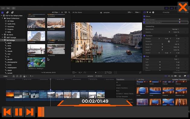 تحميل برامج مونتاج الفيديو والصوت Final Cut Pro X ، Logic Pro X لمدة 3 شهور من آبل