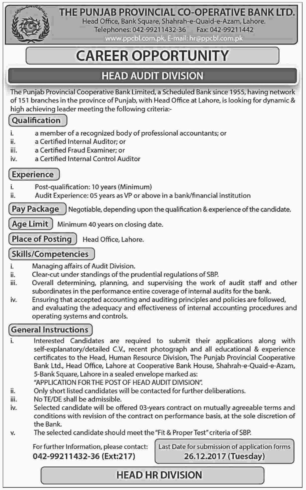 Jobs In  Punjab Public Service Commission PPSC Dec 2017