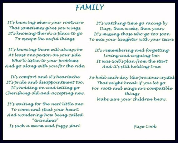 famous poems about family relationship