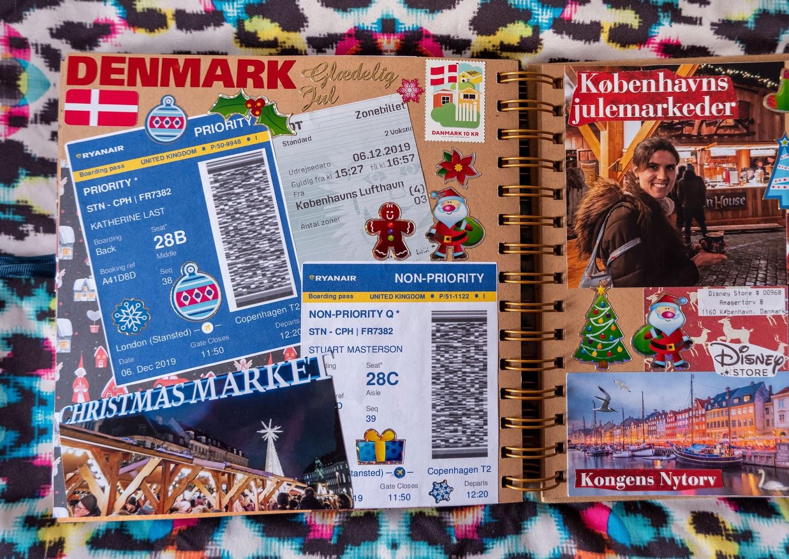 Copenhagen pages in my 2019 travel scrapbooks