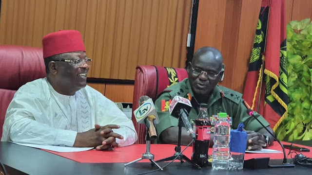 'We Need Road Blocks Downsized, And FOB, Others In Southeast' – Gov. Umahi To Buratai