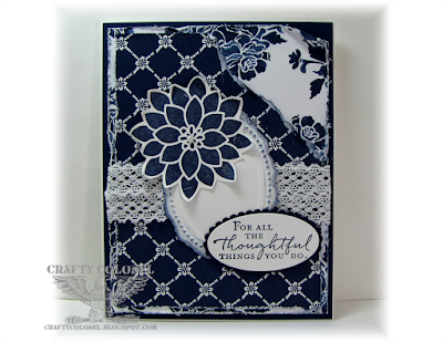 CraftyColonel Donna Nuce for Cards in Envy Challenge blog, StampinUp Floral Phrases,  Flourish Phrases, Floral Boutique DP