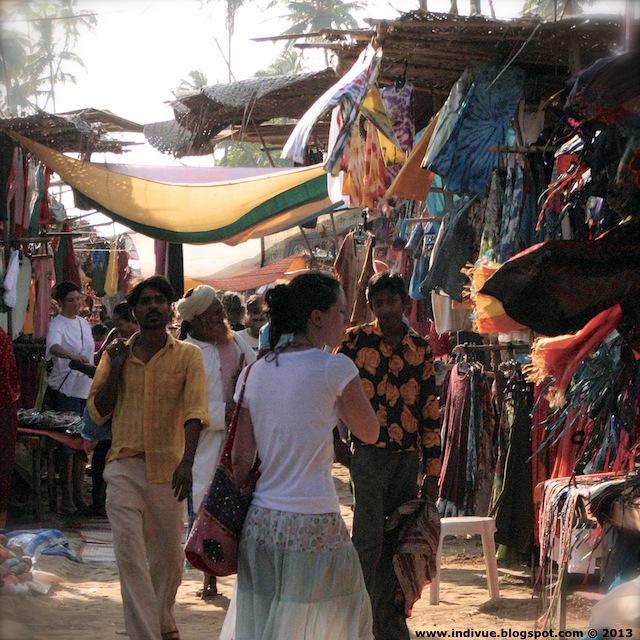 Anjuna Flea Market, Goa, Intia, 2006