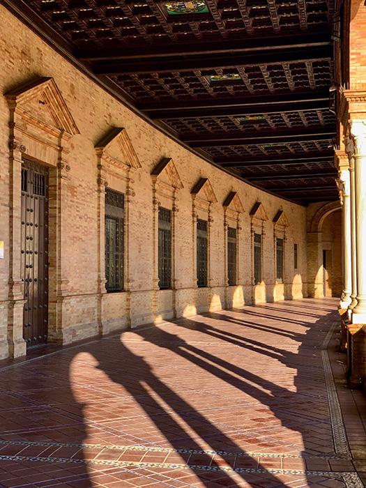Interior de la Plaza de España