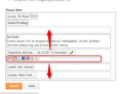 cara menampilkan social share button blogger.com