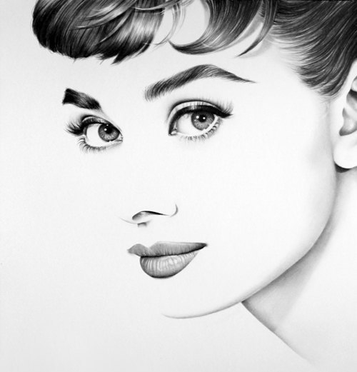 04-Audrey-Hepburn-Ileana-Hunter-Celebrity-Black-and-White-Stylish-Drawing-Portraits-www-designstack-co