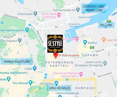 Si Style kartta, rotermanni, metropol hotellia vastapäätä