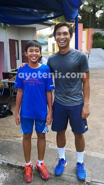 Melaju ke Babak 2, Petenis 15 Tahun Tantang Christo di Turnamen Tennis Open di Jakarta